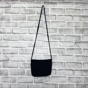 The Sak Crochet Women's Crossbody black bag